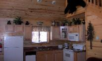 Kitchen in Heber Overgaard Real Estate Investment Cabin, across from Bison Ranch