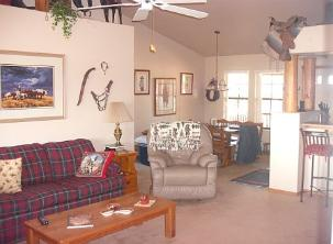 Cowboy AZ Rental Cabin Living Room
